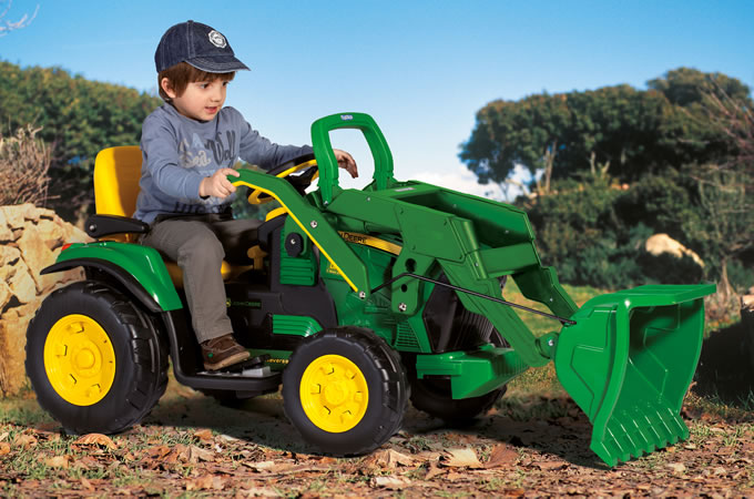 John Deere Ground Loader Tractor 12v